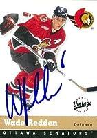 Autograph Warehouse 66372 Wade Redden Autographed Hockey Card Ottawa Senators 2000 Ud Vintage No. 251