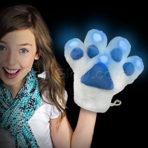 [LED Furry Mascot Paw - Blue by Fun Central] (Cubs Fan Costume)