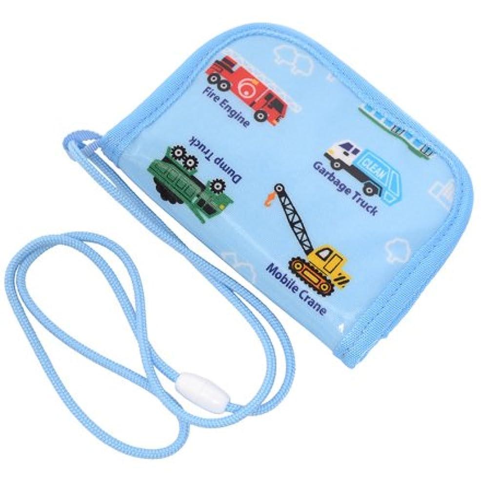 規制縮約比べるコインケース (ひも付き) 子供用  ポルカドットとレースリボンに魅せられて(ライトブルー) N5609300