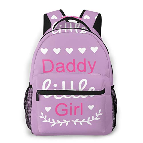 Daddys Little Girl 3D Printing Teen School Leisure Backpack Suitable for Adult Travel Backpack