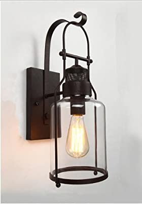 Black Iron Vintage Sconce Industrial Rustic Wall Lamp Wall Light