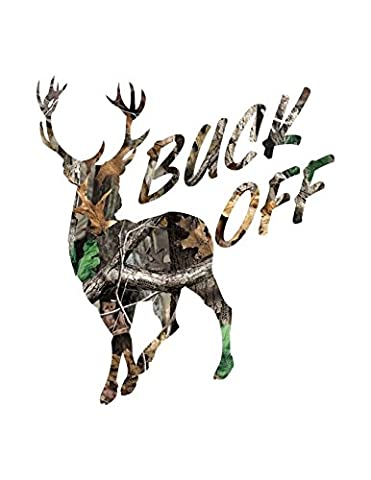 Buck Off / Large Size (Specify Color Otherwise We Ship Camo) (Realtree Camo Rebel Flag)