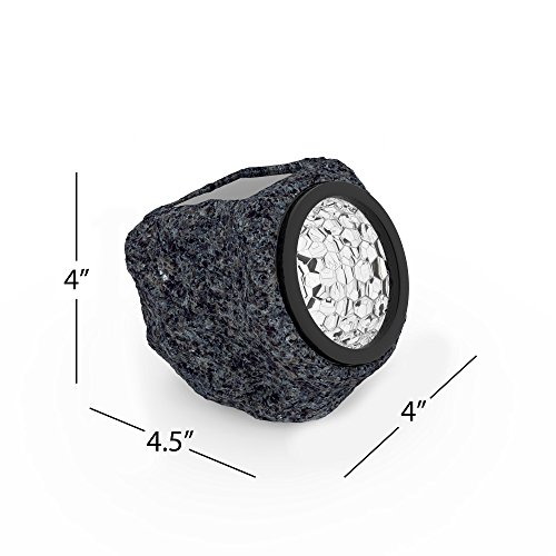 Solar Powered Rock Lights (Set of Four)- LED Outdoor Stone Spotlight Fixture for Gardens, Pathways, and Patios by Pure Garden by Pure Garden (Image #1)