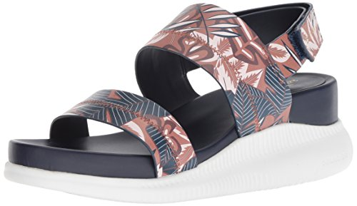 Leather Optic 2 Women's Sandal Sport Tropical Leather Black Cole Printed Haan Zerogrand Slide qS784