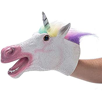 Yolococa Hand Puppet Toys,Soft Rubber Realistic Unicorn Head ... (Unicorn)