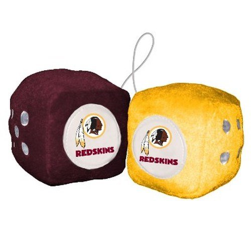 NFL Washington Redskins Fuzzy Dice,one maroon, one gold w/ - Outlet Washington In Mall