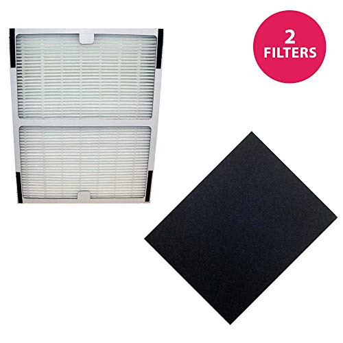 (Think Crucial Replacement Filter Compatible with Idylis Hepa Style A Air Purifier Filter & Carbon Filter Part # IAF-H-100A, 302656, Filter Kit Fits Idylis IAP-10-100, IAP-10-150 Model - Bulk (2 Pack))
