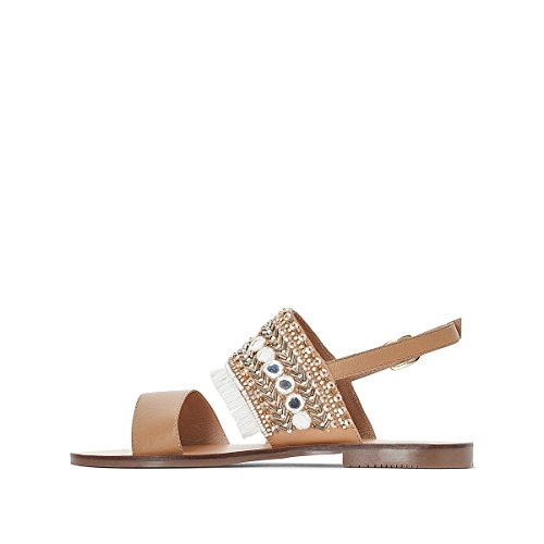La Sandals Beige Redoute with Womens Collections White Leather Fringing AArIUn8d