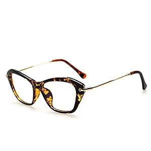 Itemap Women Retro Cat Eye Sexy Frame Clear Lens ladies Eyeglasses (Hawksbill)