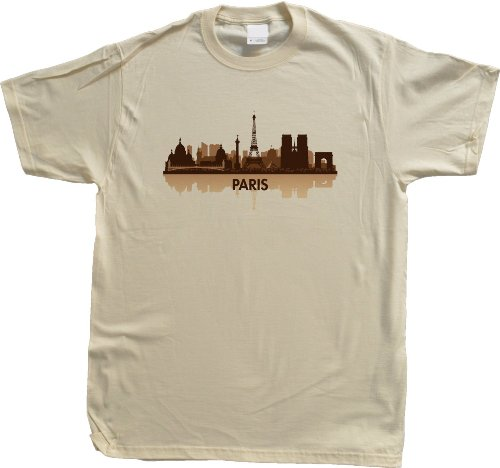 Paris, France City Skyline Unisex T-shirt French Civic Pride Tee