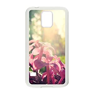 Stevebrown5v Pink Buds Samsung Galaxy S5 Cases for Women, Cell Phone Case for Samsung Galaxy S5 Mini [White]
