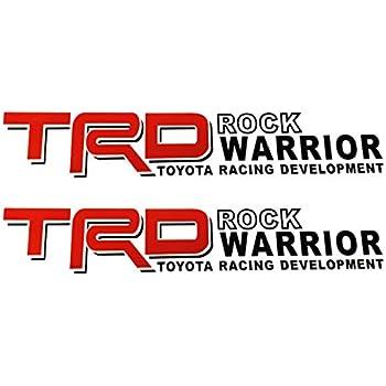 2X TRD ROCK WARRIOR 4X4 TOYOTA RACING DEVELOPMENT TACOMA TUNDRA TRUCK DECALS