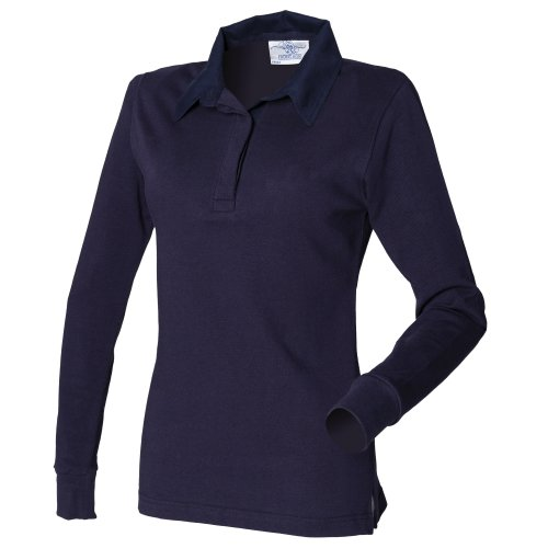 Front Row Womens/Ladies Long Sleeve Plain Sports Rugby Polo Shirt (S) - Uk Polo Sport