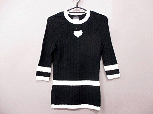 (シャネル) CHANEL セーター 七分袖セーター レディース 黒×白 【中古】 B07F8S437T  -
