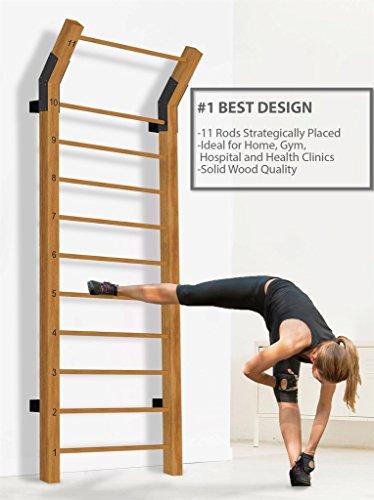 Swedish Ladder Wood Stall Bar Suspension Trainer