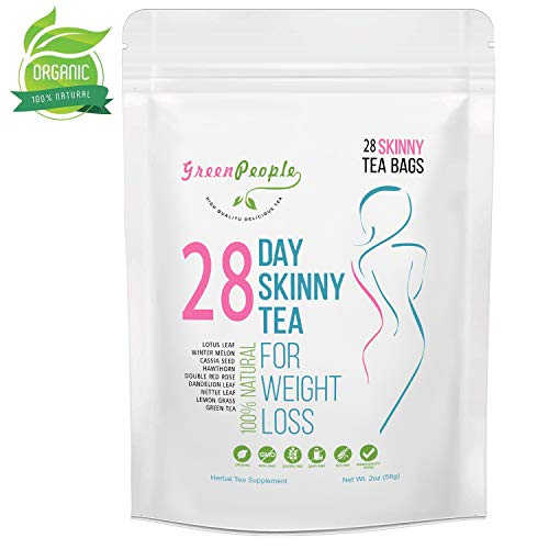 Detox Tea Diet Tea for Body Cleanse - 28 Day Weight Loss Tea, Natural Ingredients, Green People Skinny Tea for Slim, Belly Fat