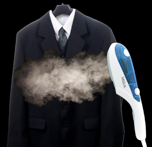Milex 3 in 1 Deluxe Powerful Travel Steamer For All Your Steaming Needs On The Go Disinfects Deodorizes Removes Wrinkles