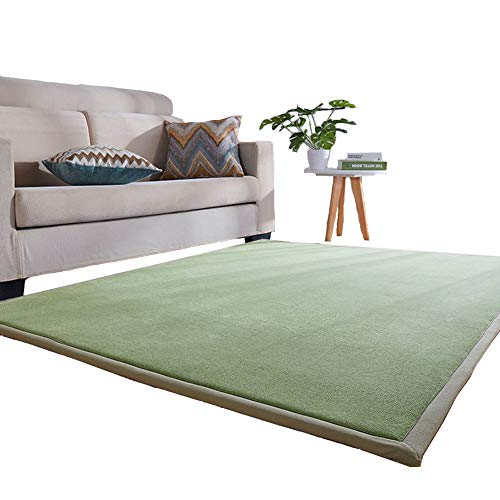 Lyfreen Memory Foam Baby Floor Rug Modern Area Rug Nursery Floor Rug for Boys Girls Ultra Soft Childrens Carpet Infant Toddler Play Mat, Light Green 4.92'x 6.56' Livingroom Rug Yoga Mat