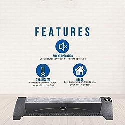 Low Profile Heater-Black