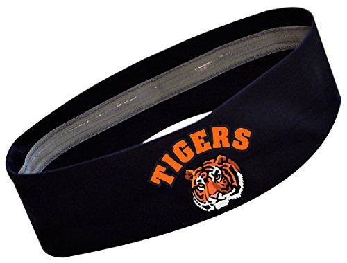 TIGERS Team School Mascot No Slip Silicone Lined Sport Headb