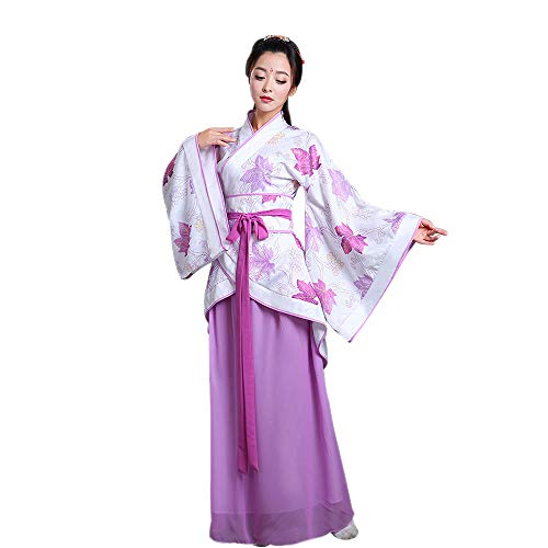 Women's Ancient Dress Style Costume Cosplay Suit Traditional Clothes Performances Hanfu ZEVONDA Chinese Purple Tang d5tqz54w