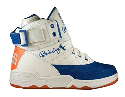 PATRICK EWING Athletics 33 Hallo Schwarz / Weiß Speedweave 1EW90197-013 Gardenia / Prince Blue / Vibrant Orange
