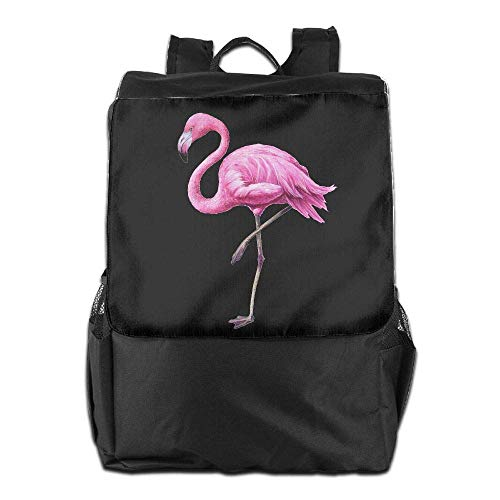 Uhfgyhuihjf Women Backpack School College Travel Laptop Men Floral Bookbag Pink Surprise Flamingo rvqwCIrx8