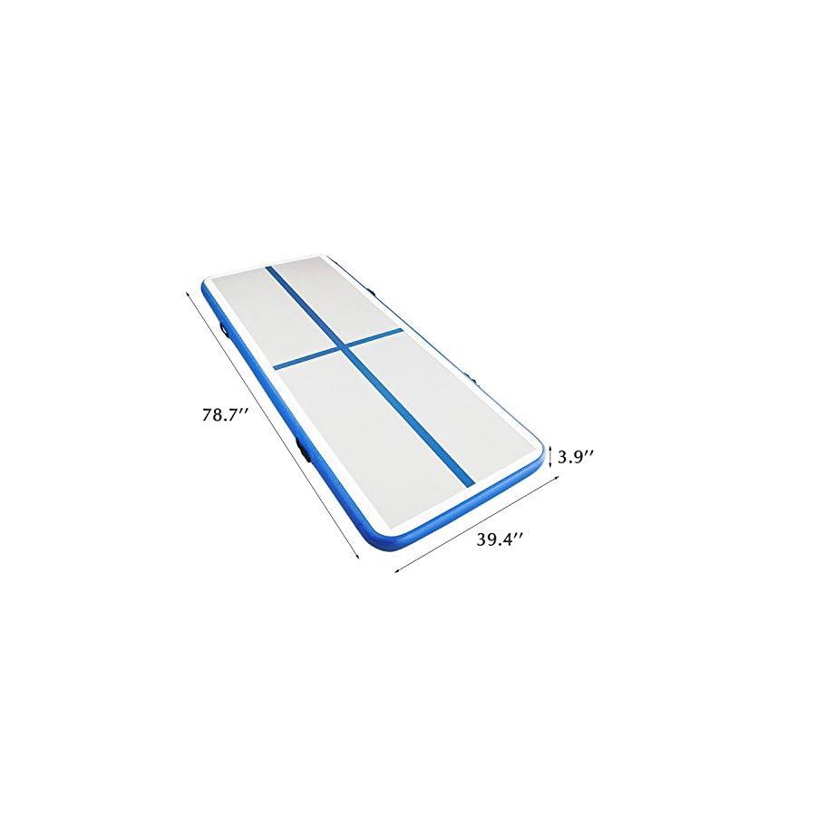 Hans & Alice Inflatable Gymnastic Tumbling Mat Anti Skid Air Track Floor Mattress