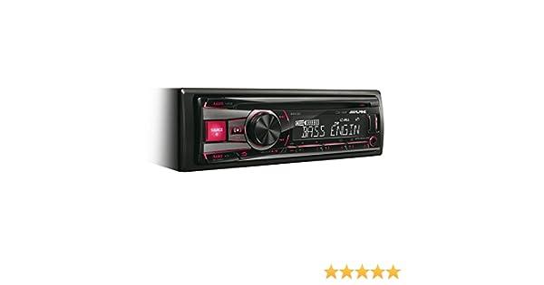 Alpine CDE-192R Radio CD con entrada USB y auxiliar