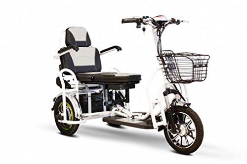 E-Wheels - POWER PACKAGE ($500 VALUE) - EW-02 Folding Heavy Duty Bariatric Scooter - 3-Wheel - - Scooters Bariatric Mobility