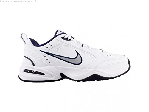 Nike Air Monarch Iv White/Mtllc Silver/Mdnght Nvy Soccer Shoes