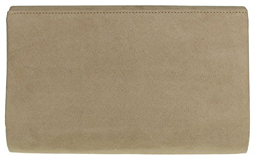 Faux Fuchsia Nude Envelope Clutch Bag amp;G Suede H Plain gqTwg6