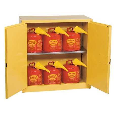 Eagle 1932SC6 Combo Safety Cabinet for Flammable Liquids, 2 Door Manual Close, 30 gallon, 44