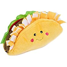 ZippyPaws NomNomz Plush Squeaker Dog Toy For The Foodie Pup - Taco