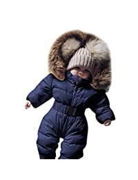 Tenworld B Newborn Baby Girl Boys One Piece Warm Winter Puffer Snowsuit Pram Bunting