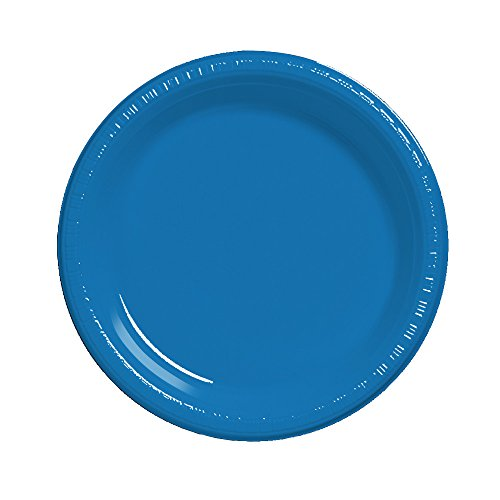 True Blue Plastic Plates - 2