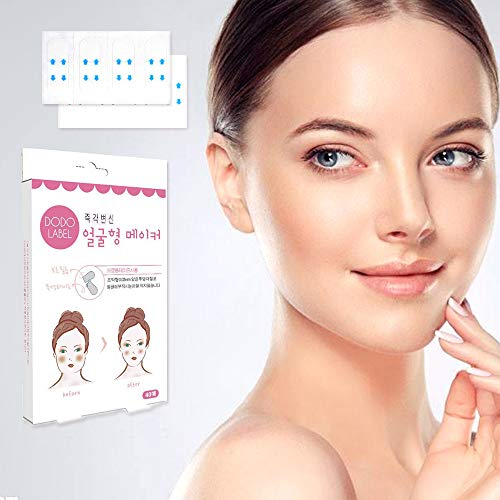 Face Lift Cosmetics - Face Lifting Patch Thin Face Stickers V Shape Face Chin Lift Fast Invisible Artifact Sticker,Tightens Skin And Eliminates Wrinkles Face Lift Tools(20 pairs)