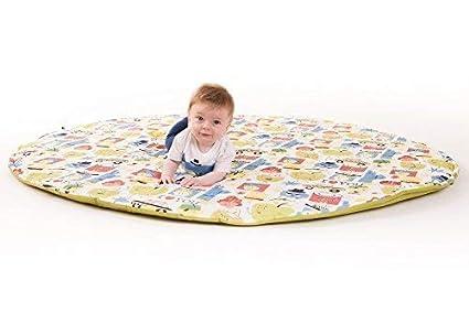 Manta de juegos para bebes XXL 160 cm plegable grande para gatear acolchada gimnasio suelo actividades