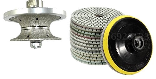 V30 1 1/4 Inch 30mm Full Bullnose Diamond Hand Profiler/Granite Router Bits Diamond Polishing Pads 4 inch Wet/Dry Set of 11+1 Granite Concrete Priority Shipping Marble counter top travertine glass