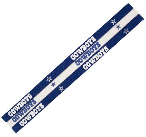 Dallas Cowboys NFL Elastic Headband 3-Pack by Patch Collection
