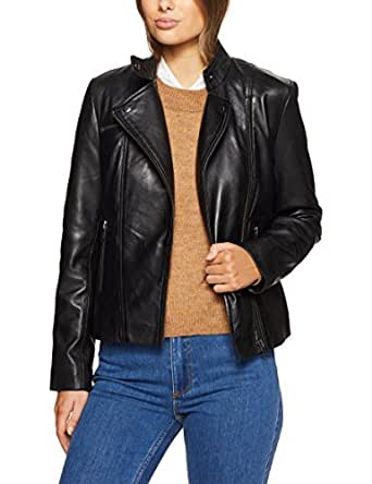 Jag Women Maria Leather Jacket, Black, 14