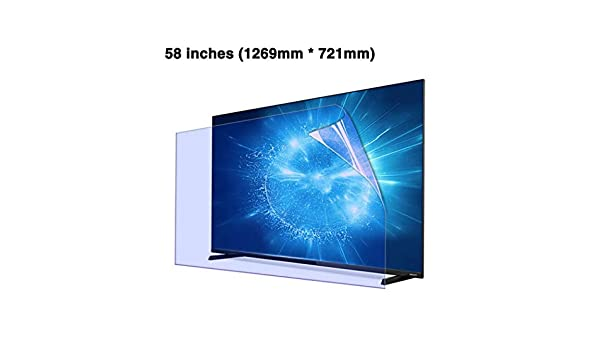 CUUYQ Protector de Pantalla de TV, Anti Luz Azul Antideslumbrante Ultra-Clear Film Protector Protección para los Ojos para LCD, LED, OLED y QLED 4K HDTV,58inch: Amazon.es: Hogar