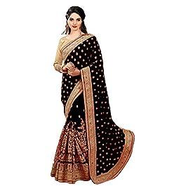 SARVADARSHI FASHION Women's Brocade Silk Saree With Un-stitched Blouse