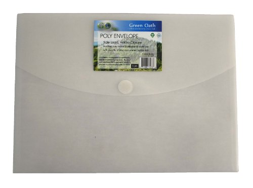 Green Oath Poly Envelope, Side-Load, Letter Size, Velcro Closure, Set of 12, Snow (50249-17273) ()