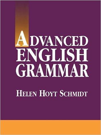 Advanced English Grammar Book Pdf