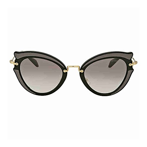 Miu Miu Women's 0MU 05SS Black/Grey Gradient - Miu Eye Miu Cats Sunglasses