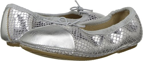 (Old Soles Baby Girl's Electric Flat (Toddler/Little Kid) Lavender Snake/Silver Athletic Shoe)