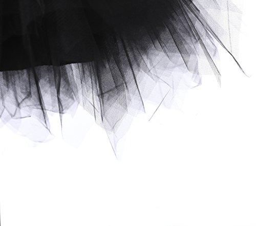 Retro donna donna e gonna Intimo crinolina Sottogonne swing sottogonna petticoat da 50s modellante petticoat sottogonna 50s tulle tutu Gonne vintage swing Nero Sottovesti Annata da x8A0nAqwU