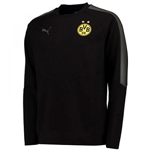 2017-2018 Borussia Dortmund Puma Casuals Sweatshirt (Black)