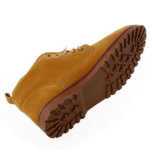Cheville Britannique Mode Neuf Chaussures Chaussures Jaune£¨US SODIAL 9 Lacet UK Tennis Cuir Mocassins Bottes Daim 5 43£© 9 R de Casual Hommes EUR Owtq5Ezqx